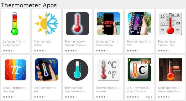 App mit der man Raumtemperatur messen kann? Ios